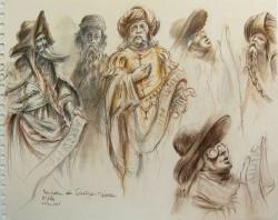"""""""Vier Antwerpener Propheten"""" gezeichnet von Rolf Escher"""