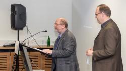 Begrüßung durch Dr. Walter Schulz (Stellv. Vors. FREUNDE) und Dr. Max Plassmann (Historisches Archiv, Kurator der Ausstellung)